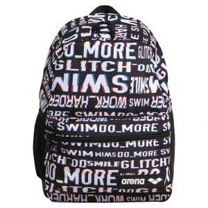 Arena Team 30 Allover Neon Glitch Swim Backpack