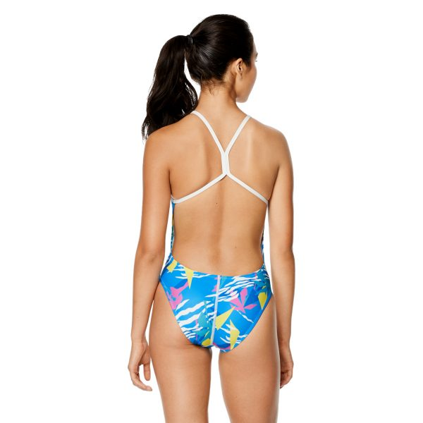 Speedo Women's Palm Triangle Printed One Back One Piece Swimsuit