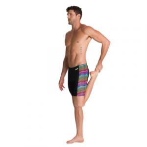 Arena Men's Multicolour Stripes Jammer Swimsuit