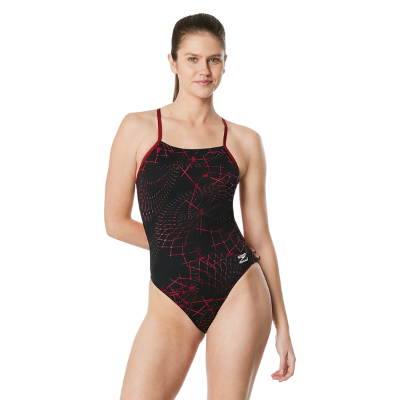 Speedo Women's Galactic Highway One Back One Piece Swimsuit