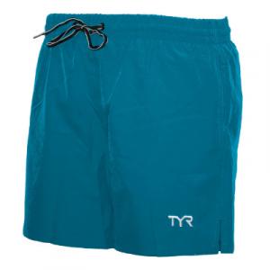 TYR Men's Solid Beach Short Swim Trunks