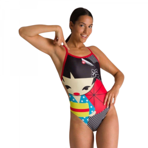 Arena Women's Crazy Kokeshi Lightech Back One Piece Swimsuit