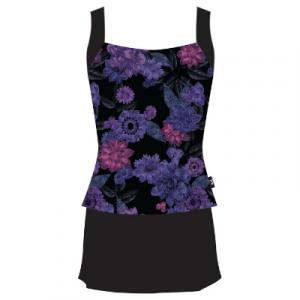TYR Women's Primrose Square Tankini With Skirt Two Piece Swimsuit