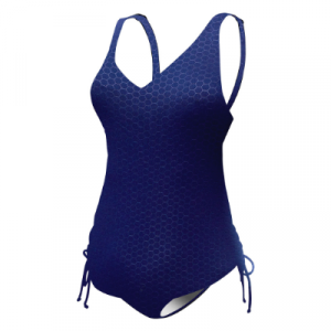 TYR Women's Solid Hexa V-Neck Sheath One Piece Swimsuit