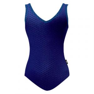 TYR Women's Solid Hexa V-Neck V-Back One Piece Swimsuit
