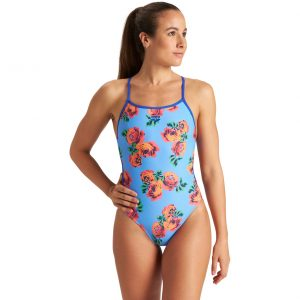 Arena Women's Roses Lace Back One Piece Swimsuit